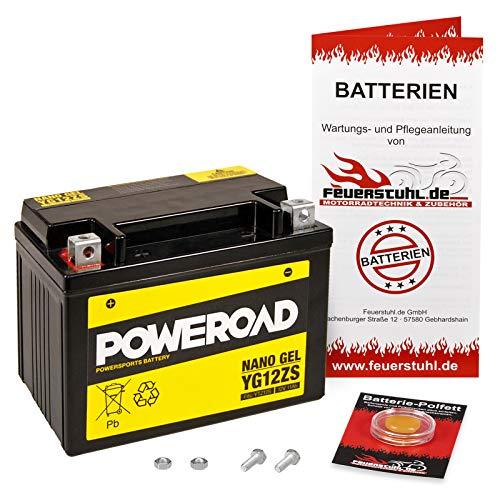 Gel-Batterie Silver Wing 600, 2001-2010 (PF01) wartungsfrei, einbaufertig, startklar, inkl. 7,50€ Pfand
