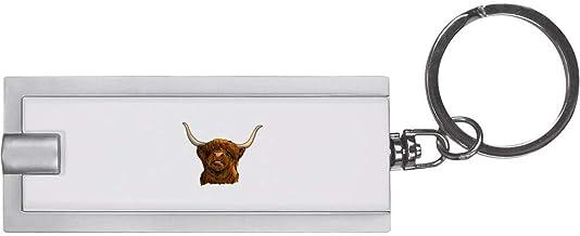 'Highland Cow Head' Keyring LED Torch (KT00018498)