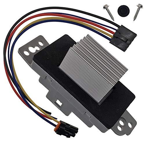 HVAC Blower Motor Control Module Resistor Kit With Harness 15-81773 19260762 Compatible with Chevrolet Chevy Trailblazer Silverado Tahoe Suburban GMC Envoy Sierra Yukon