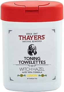 Thayers - Witch Hazel Aloe Vera Formula Toning Towelettes Lemon, 30 Count