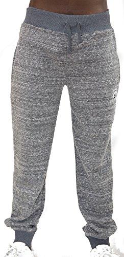 Notorius Sweatpants Jogginghose Freizeit Sport Fitness Herren Streetwear Baumwolle Modell Franky grau Mel (XXL)