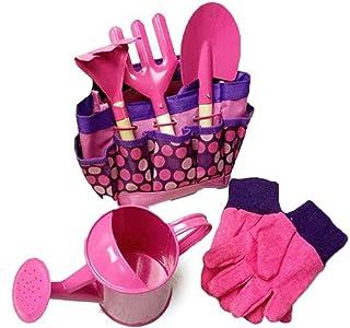 Anniston Kids Toys, 6Pcs Children Kids Garden Tools Watering Can Gardening Shovel Rake Spade Toys Outdoor Toys Perfect Fun...