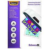 Fellowes 5452003 Pouches Opache Enhance80, Formato A3, 80 Micron, Confezione da 100 Pezzi...