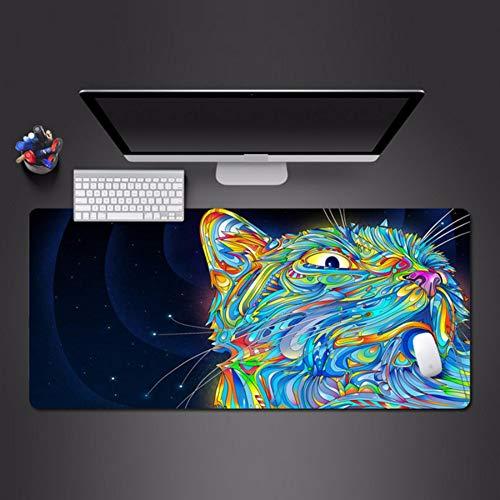 3D Linie Effektfarbe Leopard Mauspad erweiterte Anti-Rutsch-Computer-Zubehör spielen Pad Spiel Spieler Tastatur Mauspad 700 * 300 * 3mm