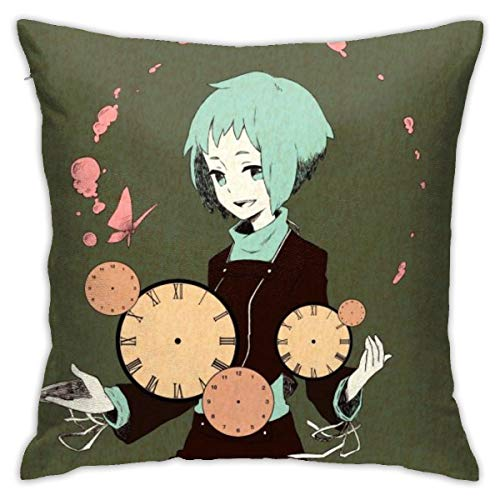"""BKOGAL Fuuka Yamagishi Persona Throw Pillow Covers Soft Square Throw Pillow Case Home Decor for Bed Couch Sofa Farmhouse Cushion Cover Both Sides (18""""x18"""")"""