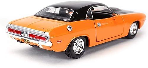 AGWa Maquette de modèle 1 24 de voiture de sport en alliage de voiture de sport Orange de modèle de simulation de modèle réduit
