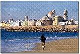 MX-XXUOUO Rompecabezas - España Catedral de Cádiz Andalucía - 1000 Piezas, De Madera,Juguetes y Juegos Hechos a Mano