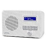 LEMEGA DR1 Portable DAB/DAB+/FM Digital Radio,Dual Alarms Clock,Kitchen/Sleep/Snooze Timer,20 Preset Stations, Headphones Output,dab