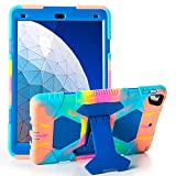 iPad Air 10.5' Case iPad Air 3 Case Heavy Duty Shockproof Case Adjustment Stand Rugged Protective Case for 10.5' inch iPad (Blue)