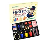 BMM009 Newest Incredible Magic Tricks Set Box Includes Selected 15 Great Magic Props Collection for Children and Young Magicians