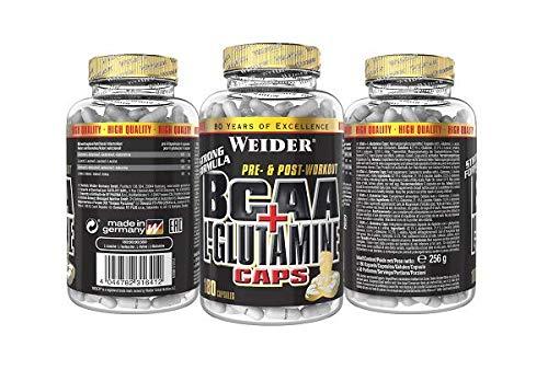 Weider BCAA + Glutamin 180 Kapseln, 1er Pack (1 x 255 g) - 3