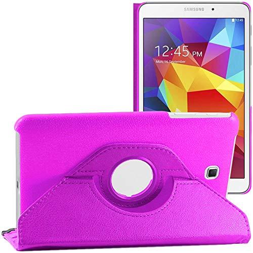 ebestStar - kompatibel mit Samsung Galaxy Tab 4 8.0 Hülle SM-T330, T331 SM-T335 Rotierend Schutzhülle Etui, Schutz Hülle Ständer, Rotating Hülle Cover Stand, Lila [Tab: 210 x 124 x 8mm, 8.0'']