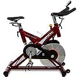 BH Fitness Helios H9178FD - Indoor Bike - Resistenza a Frizione - Volano da 22 kg - Uso intensivo - Manubrio Tipo Triathlon - Pedali Trekking