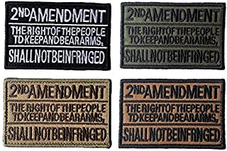 Antrix 4 Pack Tactical US 2nd Amendment Morale Patch Hook and Loop Fastener The Right of The People to Keep and Bear Arms ...