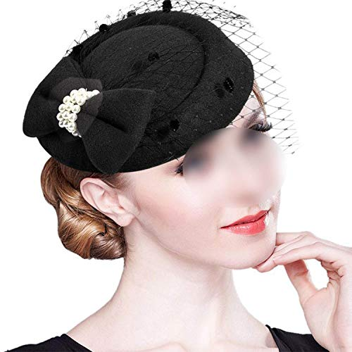 Vintage Vrouwen Fascinator Cambric Cocktail Hoed Haarband Veiling Hoofdband Lady Bruiloft Party Headdress Haaraccessoires