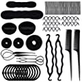 70 PACK Hair Styling Accessories Kit Set,Sonku Magic Bun Maker Hair Braid Tool for DIY Clip Curler Roller Twist for Girls and Women