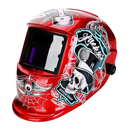 LESOLEIL Masque de Soudage - Masque de Soudeur Casque de Soudage Automatique Actionné Li-Mi&Solaire DIN 9-13 avec 2 Capteurs 2 Lentilles pour plus des modes TIG MIG MAG