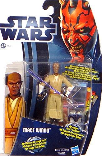 Jedi Master Mace WindU with fat Helmet cw08 Star Wars - The Hasbro Clone Wars 2012
