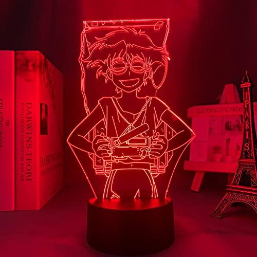 Luz Led 3d Anime Cowboy Bebop Edward para decoración de dormitorio Luz de noche Regalo de cumpleaños para niños Sala de Manga Escritorio Lámpara 3d Cowboy Bebop