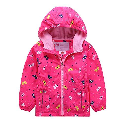 G-Kids Waterdichte jas voor meisjes, overgangsjas, regenjas met fleecevoering, warm en winddicht, ademend, wandeljas, outdoorjas