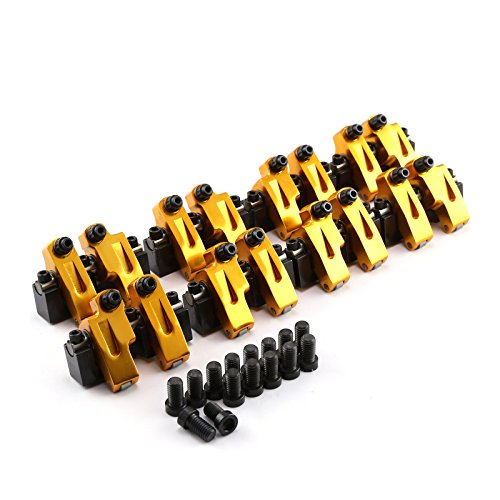 PCE261.1107 compatible with Chevy SBC 350 15 Degree 1.6 Shaft Mount Roller Rocker Arms .450 Int .180 Exh.