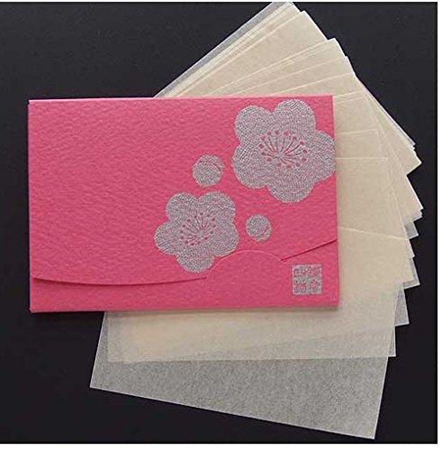 季節の花 梅 「絹すき」 短冊サイズ