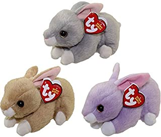 Ty 2016 Beanie Babies Easter Bunny set with Nibbler, Bunnie, and Lilac by Beanie Babies