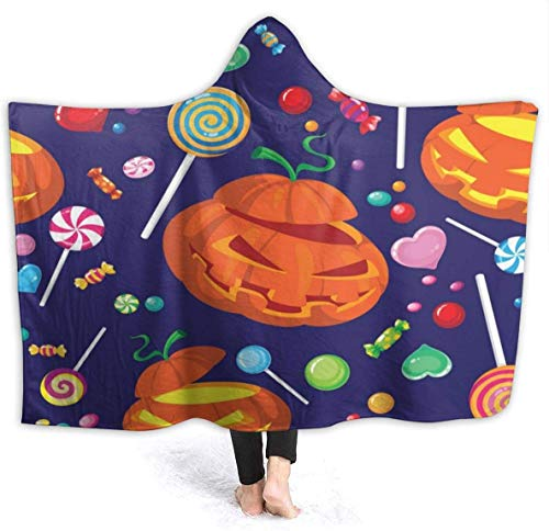 Halloween Candy Hooded Blanket 50