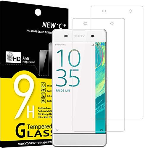 NEW'C 2 Stück, Schutzfolie Kompatibel mit Sony Xperia XA panzerglasfolie, Frei von Kratzern, 9H Festigkeit, HD Bildschirmschutzfolie, 0.33mm Ultra-klar, Ultrawiderstandsfähig