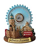 thomas benacci Collage Londres en 3D con reloj analógico, Big Ben, Tower Bridge/Abbey/Westminster Catedral de San Pablo/Buscador de dos pisos/Caja de teléfono roja/Ojo/recuerdo británico Reino Unido
