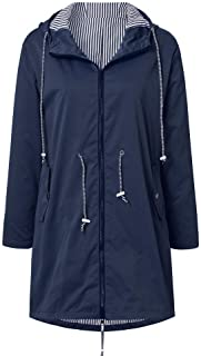 Women's Raincoats,Windbreaker Rain Jacket Waterproof Hooded Outdoor Trench Coats