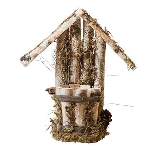 HiiGlife Cabine Flowerpot Petit décoratif Ornements végétaux Pots de Stockage Usine Stand for Extérieur Intérieur 36 × 16 × 37cm