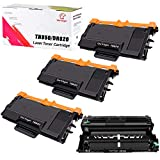 Compatible Brother TN850 TN820 Toner & DR820 Drum Unit Set Replacement for Brother DR-820 TN-850 TN-820 by UniVirgin - 3 x Toner & 1 x Drum