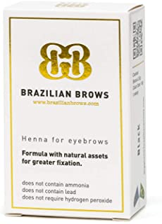 Brazilian Brows Eyebrow Henna   Medium Blonde   Pack & Tinting Kit   Profesional usage