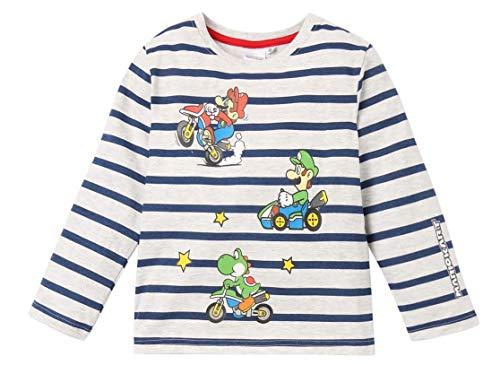 SUPER MARIO BROS Jungen Pyjama, Schwarz, Grau, Rot (104/4 Jahre, Grau)