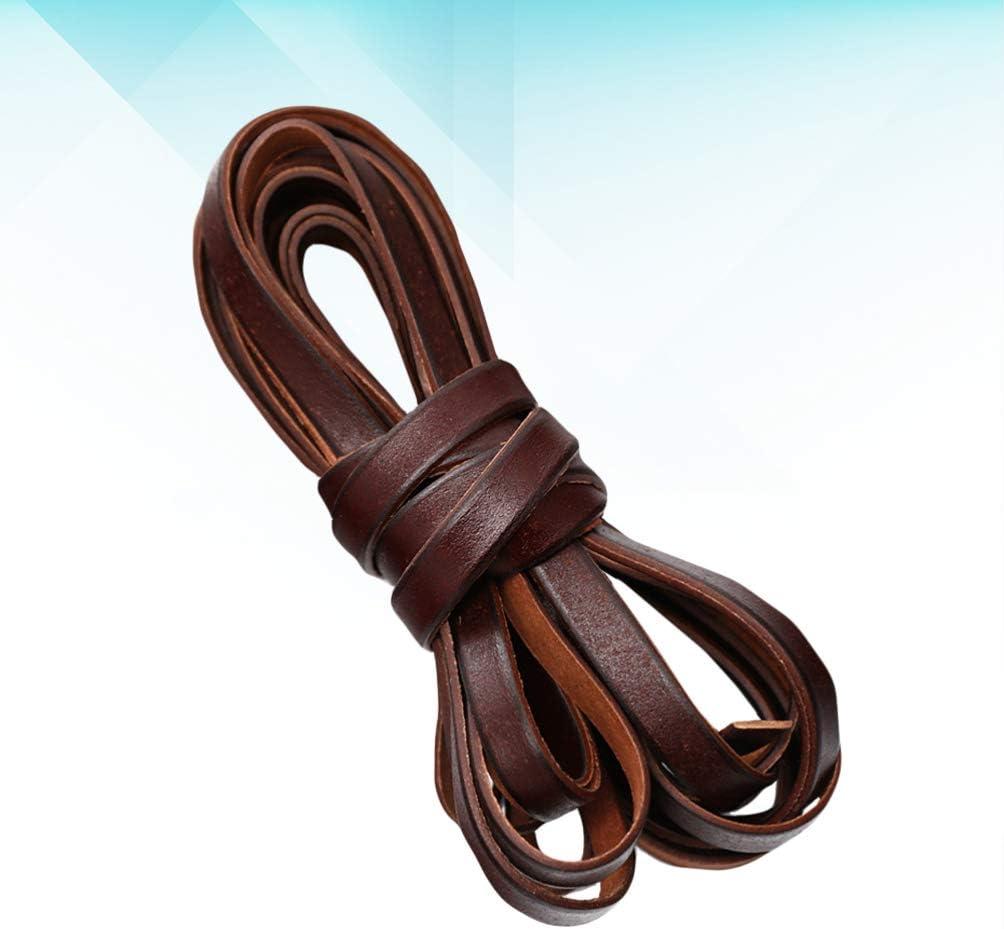 Healifty Corde di Cuoio Genuino Gioielli Stringhe di Filo Corde di Spago Fai da Te Gioielli Artigianali Che Fanno Accessori per Bracciale Collana Marrone 3Mm