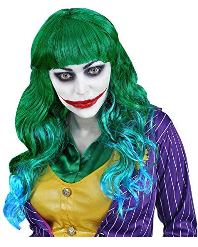 Evil Joker Dames Pruik