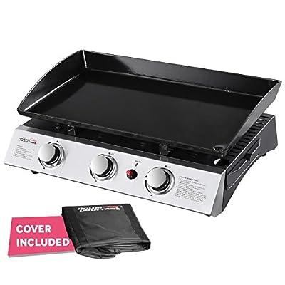 Royal Gourmet PD1300 Portable 3-Burner Propane Gas Grill Griddle,Black