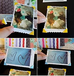 Bianco 312 Pezzi Cornici Sticker Album Foto Angolini Autoadesivi per Foto Angoli Stickers Photo Corners Colorati Argento Oro iGadgitz Home U7011 Nero Bianca