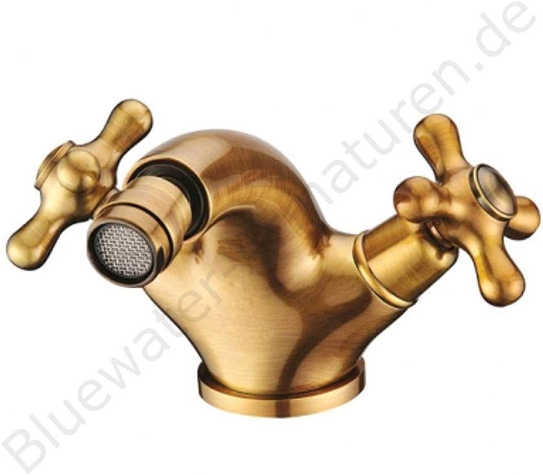 Blauwater RETRO Bidetarmatur Alt Gold RET - BB.040, Designer Armatur, Armaturen Bad, Badezimmer, Einhebelmischer, Mischbatterie, Bidet Wasserhahn, Bidetwasserhahn