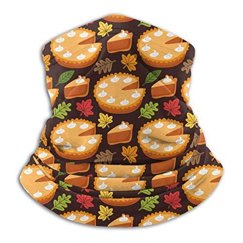 Lawenp Pastel de calabaza, patrón de hojas de otoño, clima frío, calentador de orejas, bufanda para unisex