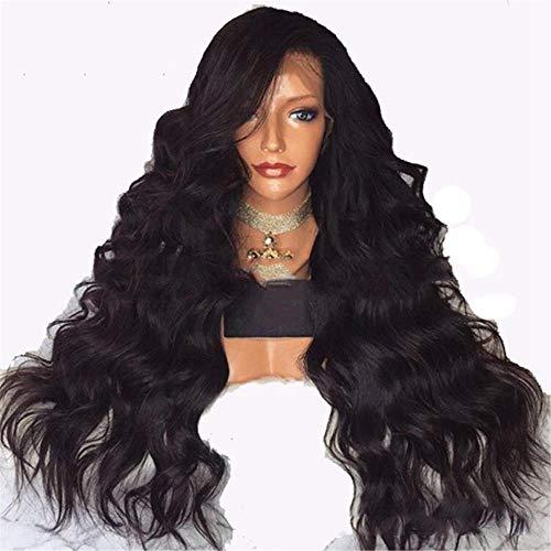 Cheveux longs et longs bouclés perruque de cheveux longs pour les femmes européennes et américaines avant la dentelle chimique de la fibre en gros transfrontalière-16 pouces