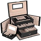 Best Jewelry Boxes - SONGMICS Jewelry Box, Jewelry Organizer Case with 2 Review