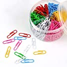 Paper Clips, 500 Pieces Colorful Paperclips 1.2 Inch Office Clips for School Personal Document Organizing and Classifying Professional Work (Normal Size)