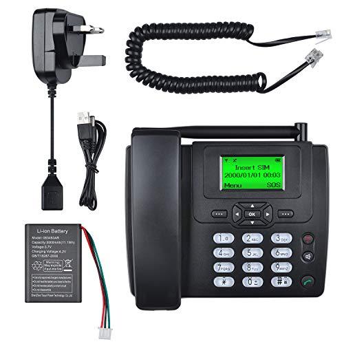 lychee Wireless SIM Card GSM Classic Desk Phone Desktop Telephone Handset...