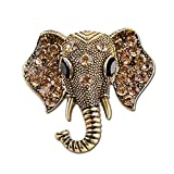 TraveT Retro Alloy Rhinestone Elephant Brooch Pin Crystal Brooches Best Gift for Women