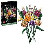 lego creatorexpert bouquetdifiori, set collezione botanica e idea regalo per adulti, modello da esposizione, 10280