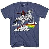 Deadpool Funny Humor Pun Unicorn Avengers X-Men Dead Pool Glory Graphic Men's Adult T-Shirt Tee Apparel (Heather Blue, XX-Large)