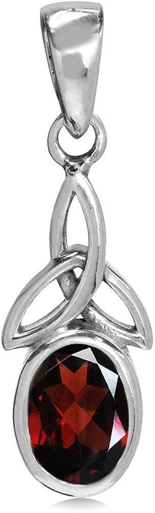 Silvershake Over Wholesale item handling Birthstone Gemstone 925 Triquetra Silver Sterling Ce