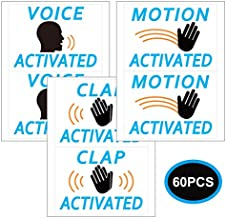 Prank Stickers, Funny Stickers Hilarious Practical Jokes, Fake Voice, Motion Clap Activated Sign Tags, 60 Pack. Make Your Friends Publicly Yell & Vigorously Jazz Hand at Vending Machines & Doors. Hila